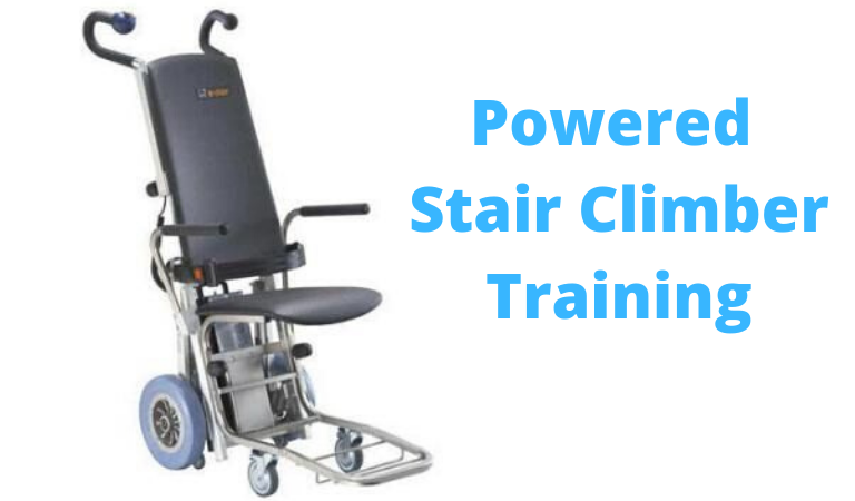 powered stair climber training